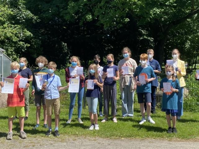 Siegerehrung zu den Mathematik-Wettbewerben - Wettbewerbe in Zeiten der Pandemie
